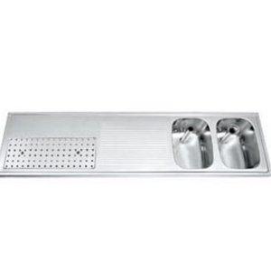 Gamko Buffet Journal RVS + 2 sinks Right   Gamko CO BB1802R   Cross Motif   500x1800mm   DRESSER