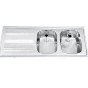 Gamko Buffet Journal RVS + 2 Waschbecken rechts | Gamko CO SB1202R | Kreuz-Motiv | 500x1200mm | DRESSER