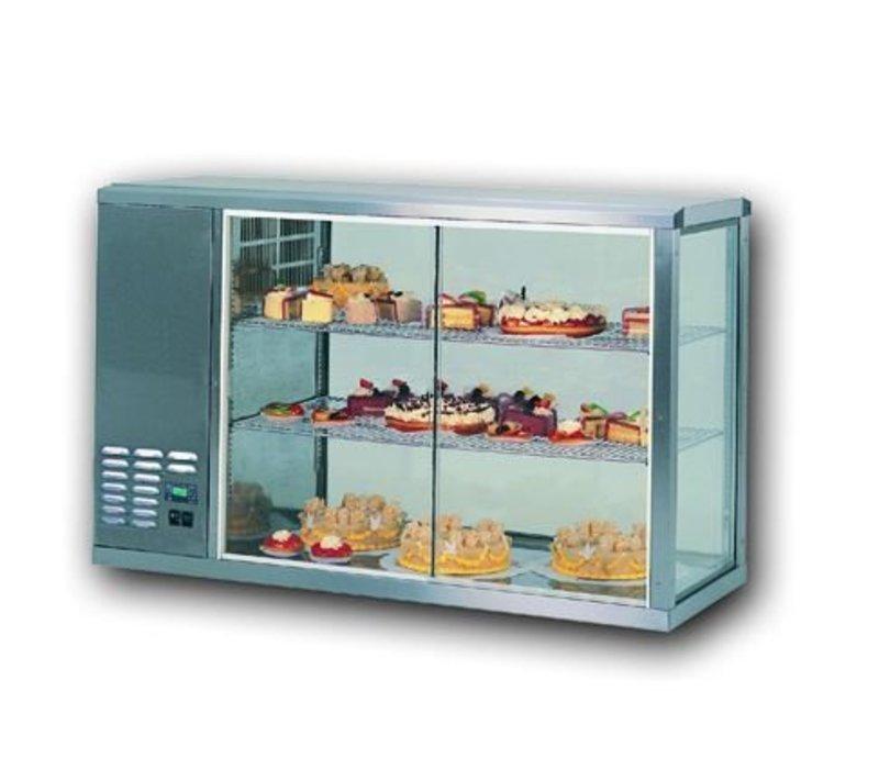 Gamko Kühlvitrine Design Hohe Modell | Gamko AV / MS131HSF | Glas-Schiebe / Windows Flip | 1310x510x815 / 825 / 840mm