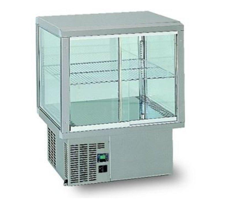 Gamko Einbaukühlvitrine | Gamko AV / MU64SF | Unter Maschine | Glas-Schiebe / Windows Flip | 642x610x782 / 792 / 807mm