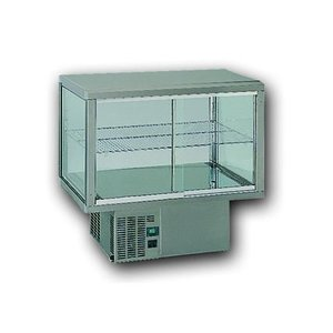Gamko Recessed Refrigerated display case | Gamko AV / MU84 | Under Machine | Sliding Glass / Fixed Square | 842x610x782 / 792 / 807mm