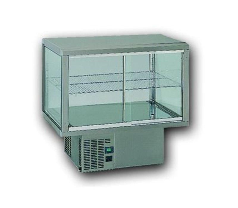 Gamko Einbaukühlvitrine | Gamko AV / MU84 | Unter Maschine | Glas-Schiebe / Festplatz | 842x610x782 / 792 / 807mm