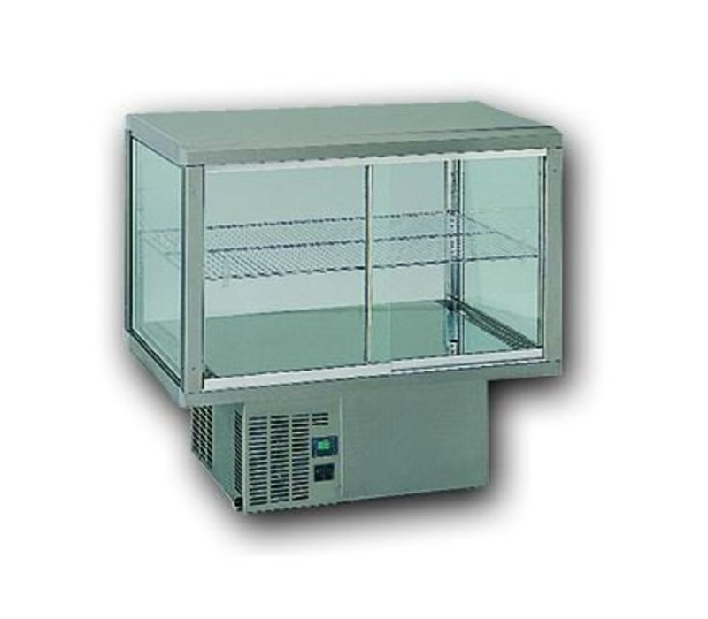 Gamko Recessed Refrigerated display case | Gamko AV / MU84 | Under Machine | Sliding Glass / Fixed Square | 842x610x782 / 792 / 807mm