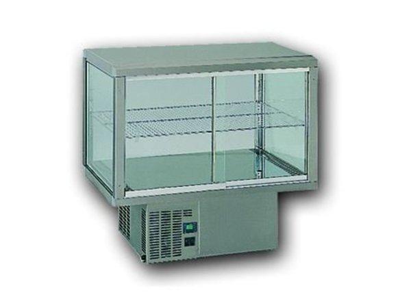 Gamko Einbaukühlvitrine | Gamko AV / MU84SF | Unter Maschine | Glas-Schiebe / Windows Flip | 842x610x782 / 792 / 807mm