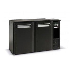 Gamko Fust Kühlen 2-Tür Anthrazit | Gamko FKG25 / 8R | Maschine Recht | 1350x590x860 / 880mm