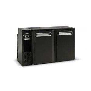Gamko Fust Kühlen 2-Tür Anthrazit | Gamko FKG25 / 8L | Maschinen Links | 1350x590x860 / 880mm