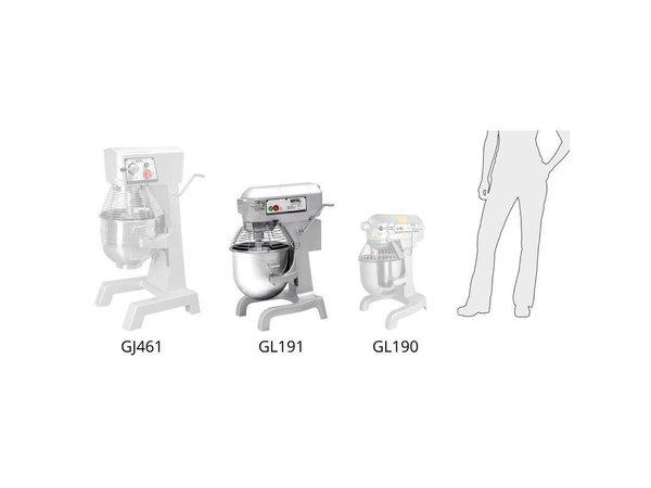 XXLselect Planet Mixer | 20 Liter | 3 Speeds | 1.1 kW | Stainless Steel Bowl | Powerful Engine | 558x558x (H) 794mm