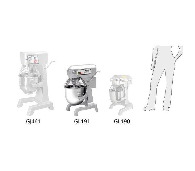 XXLselect Planet Mixer | 20 Liter | 3 Geschwindigkeiten | 1,1 kW | Edelstahl-Schüssel | Leistungsfähiger Motor | 558x558x (H) 794mm