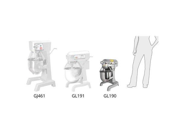 XXLselect Planeetmenger | 10 Liter | 3 Snelheden | 0.55 kW | RVS Kom | Krachtige Motor | 395x395x(H)610 mm