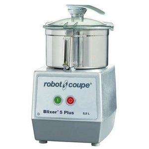 Robot Coupe Blixer 5 PLUS - Robot Coupe | 5.5 Liter | 1,3kW / 400V | 2 Speed: 1500 & 3000 RPM