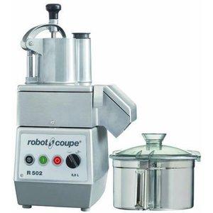 Robot Coupe Combi Cutter & Gemüseschneider R502 | Robot Coupe | 1kW / 400V | 5,5 Liter | 2 Geschwindigkeiten: 750 und 1500 RPM
