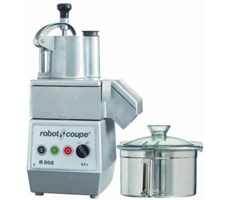 Robot Coupe Combi Cutter & Groentesnijder   Robot Coupe R502   1kW/400V   5,5 Liter   2 snelheden: 750 & 1.500 RPM