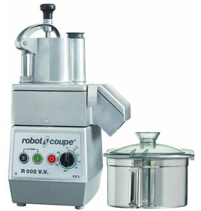 Robot Coupe Combi Cutter & Gemüseschneider | Robot Coupe R502VV | 1,3kW | 5,5 Liter | Variable Speed: 300-3500 RPM