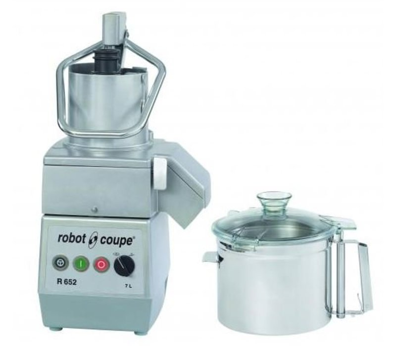 Robot Coupe Combi Cutter & Groentesnijder | Robot Coupe R652 | 7 Liter | 400V | 2 Snelheden: 750 & 1.500 RPM