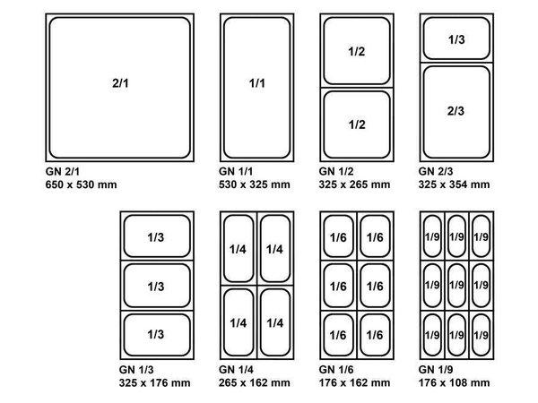 XXLselect GN Bakken 2/1 - GN, 40 mm, 12 liter   650x530mm