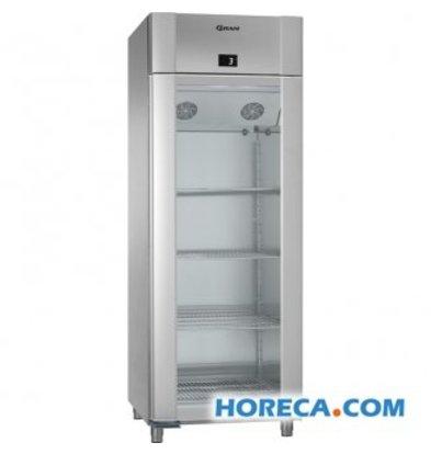 Gram Kühlschrank Edelstahl / Edelstahl mit Glastür | Gram ECO TWIN KG 82 CCG L2 4N | 614L | 820x785x2125 (h) mm