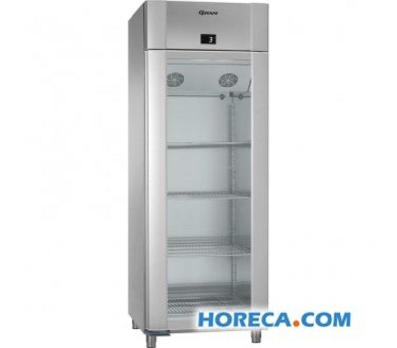 Gram Kühlschrank Edelstahl / Edelstahl mit Glastür   Gram ECO TWIN KG 82 CCG L2 4N   614L   820x785x2125 (h) mm