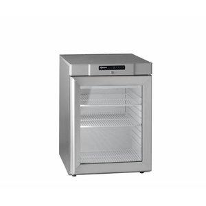 Gram Unterbau Kühlschrank Edelstahl mit Glastür | Gram COMPACT KG 210 RG 3W | 583L | 695x868x2010 (h) mm