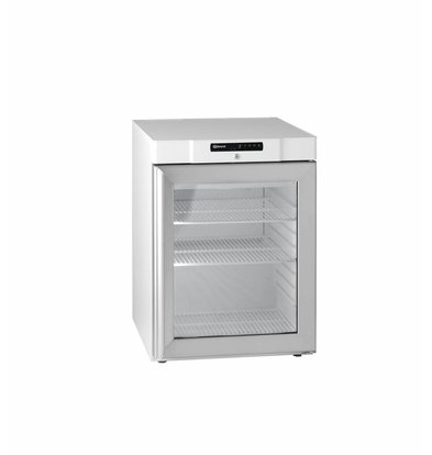 Gram Substructure White Refrigerator with Glass Door | Gram COMPACT KG 210 LG 3W | 125L | 595x640x830(h)mm