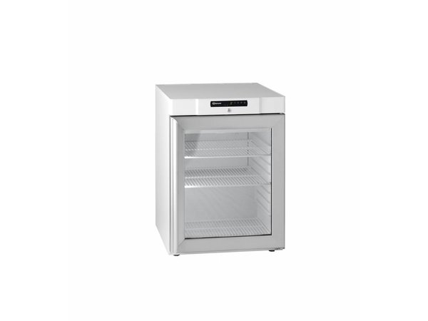 Gram Substructure White Refrigerator with Glass Door   Gram COMPACT KG 210 LG 3W   583L   125L   595x640x830(h)mm