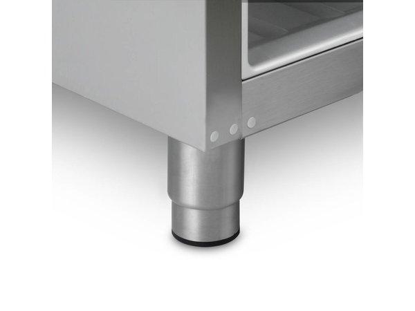 Gram Edelstahl-Kühlschrank mit Glastür | Gram COMPACT KG 310 RG L1 4W | 218L | 595x640x1300 (h) mm