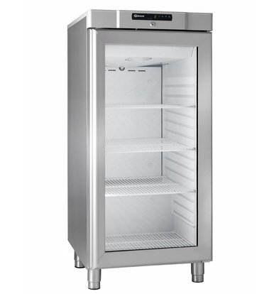Gram Stainless steel refrigerator with glass door | Gram COMPACT KG 310 RG L1 4W | 218L | 595x640x1300 (h) mm