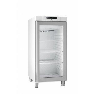 Gram Weiß Kühlschrank mit Glastür | Gram COMPACT KG 310 LG L1 4W | 218L | 595x640x1300 (h) mm