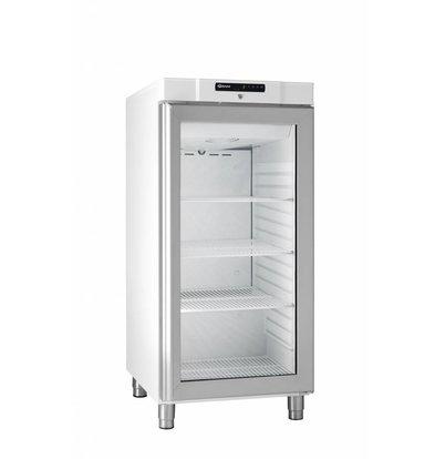 Gram White fridge with glass door | Gram COMPACT KG 310 LG L1 4W | 218L | 595x640x1300 (h) mm