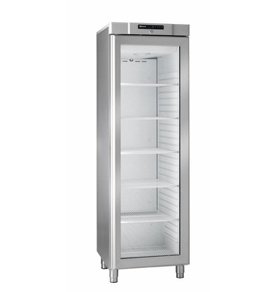 Gram Stainless steel refrigerator with glass door | Gram COMPACT KG 410 RG L1 6W | 346L | 595x640x1875 (h) mm