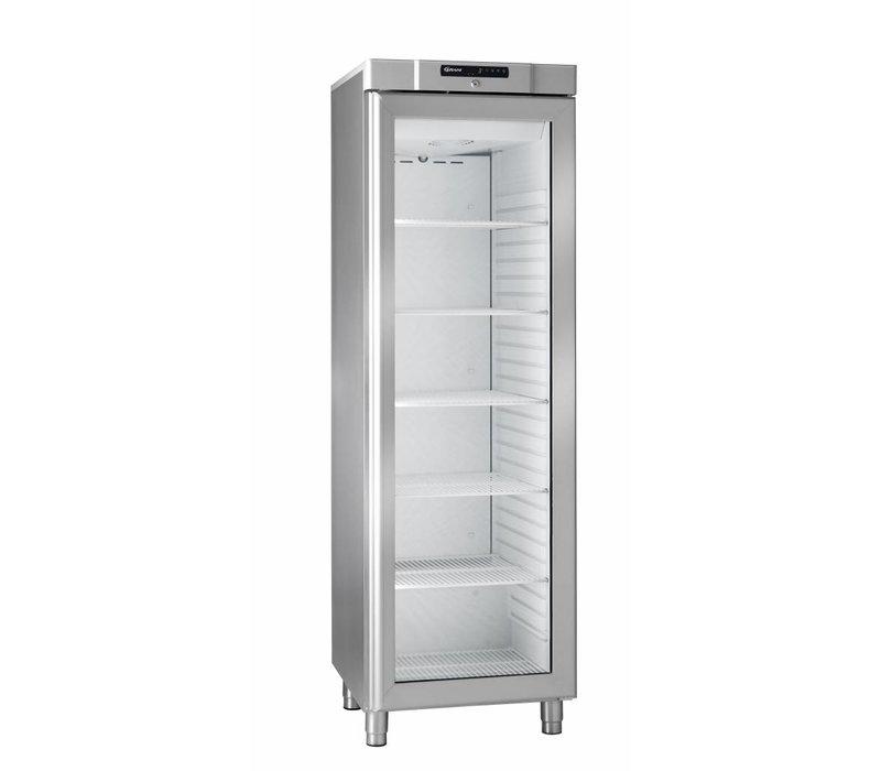 Gram Edelstahl-Kühlschrank mit Glastür | Gram COMPACT KG 410 RG L1 6W | 346L | 595x640x1875 (h) mm