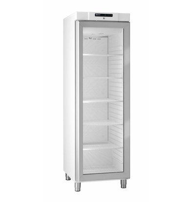 Gram White fridge with glass door | Gram COMPACT KG 410 LG L1 6W | 346L | 595x640x1875 (h) mm