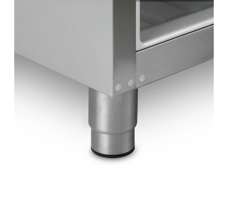 Gram Stainless steel refrigerator with glass door | Gram COMPACT KG 610 RG L2 4N | 583L | 695x868x2010 (h) mm