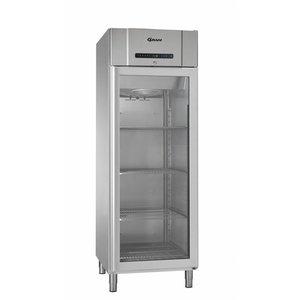Gram Edelstahl-Kühlschrank mit Glastür | Gram COMPACT KG 610 RG L2 4N | 583L | 695x868x2010 (h) mm