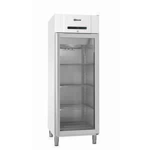 Gram White fridge with glass door | Gram COMPACT KG 610 LG L2 4N | 583L | 695x868x2010 (h) mm
