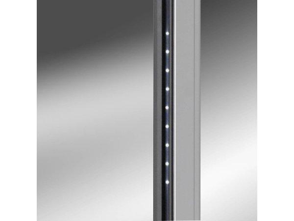 Gram Wijnkast RVS met Glasdeur | Gram KG 410 RG L1 10WV | 346L | 595x640x1875(h)mm