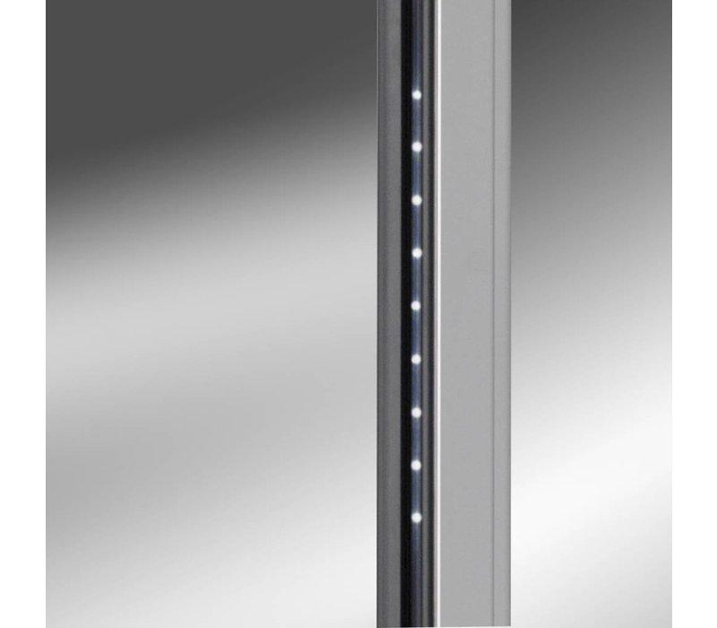 Gram Edelstahlweinschrank mit Glastür | KG 410 Gramm RG L1 10WV | 346L | 595x640x1875 (h) mm