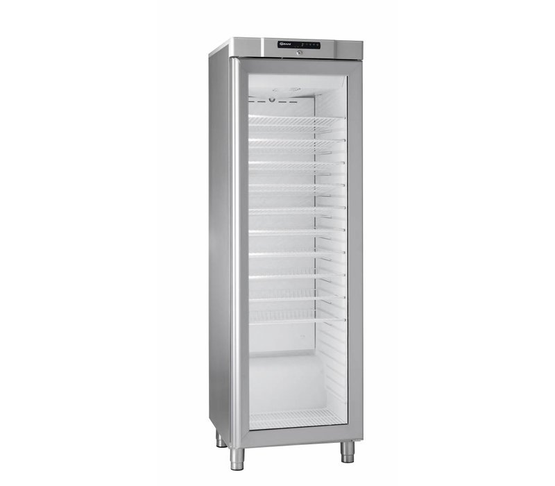 Gram Stainless steel wine cabinet with glass door | KG 410 grams RG L1 10WV | 346L | 595x640x1875 (h) mm