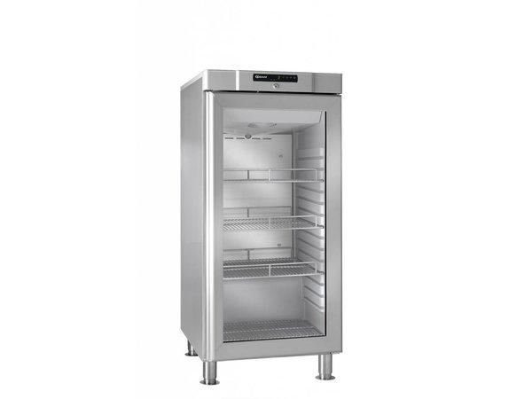 Gram Edelstahl-Kühlschrank mit Glastür | COMPACT KG 310 Gramm RH 60 Hz LM 3M | 218L | 595x640x1335 (h) mm
