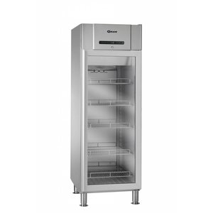 Gram Stainless steel refrigerator with glass door | COMPACT KG 610 grams RH 60HZ LM 5M | 583L | 695x868x2005 (h) mm