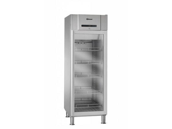 Gram Edelstahl-Kühlschrank mit Glastür | COMPACT KG 610 Gramm RH 60 Hz LM 5M | 583L | 695x868x2005 (h) mm