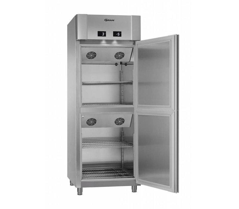 Gram 2 Temperatures Depth Cooler / Cooler | Gram ECO TWIN MK 82 CCG COMBI L2 4S | 2x 228L | 820x785x2125 (h) mm