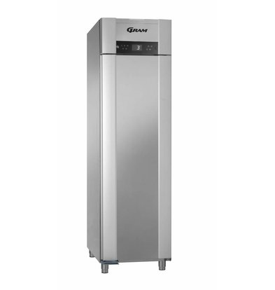 Gram Stainless steel refrigerator | ENERGY EFFICIENT | Gram SUPERIOR EURO K 62 CCG L2 4S | 465L | 620X855X2125 (h) mm