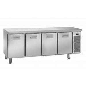 Gram Cool Workbench SS - 4 Doors | Gram K2005 Snowflake | 495L | 2084X700X855 (h) mm