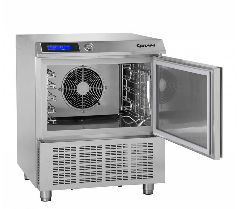 Gram Snelkoeler/Vriezer RVS   5 x GN 1/1 of 40x60cm   Gram PROCESS KPS 21 SH   745x720x900(h)mm
