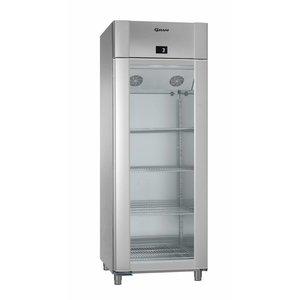 Gram Kühlschrank Edelstahl / ALU mit Glastür | Gram ECO TWIN KG 82 CAG L2 4N | 614L | 820x785x2125 (h) mm
