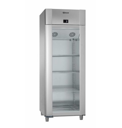 Gram Refrigerator Stainless Steel / ALU with Glass Door | Gram ECO TWIN KG 82 CAG L2 4N | 614L | 820x785x2125 (h) mm