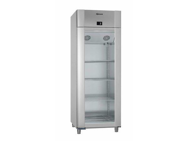 Gram Kühlschrank Vario Silber / SS mit Gladeur | Gram TWIN ECO 82 KG RCG L2 4N | 614L | 820x785x2125 (h) mm
