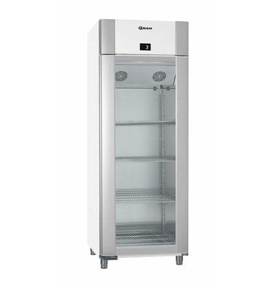 Gram Kühlschrank Weiß / Edelstahl mit Glastür | Gram ECO TWIN KG 82 LCG L2 4N | 614L | 820x785x2125 (h) mm