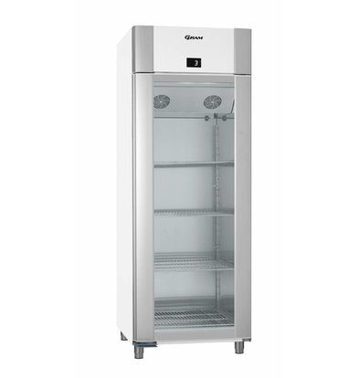 Gram Refrigerator White / Stainless Steel with Glass Door | Gram ECO TWIN KG 82 LCG L2 4N | 614L | 820x785x2125 (h) mm