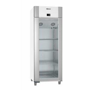 Gram Kühlschrank Weiß / ALU mit Glastür | Gram ECO TWIN KG 82 LAG L2 4N | 614L | 820x785x2125 (h) mm